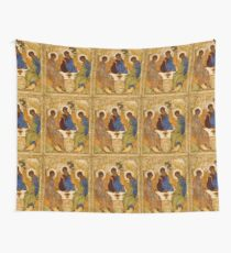 Holy Trinity Painting Rublev Trinity Print Icon Christian Religious Wall art Wall Tapestry