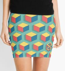 Isometric Cube Mini Skirt
