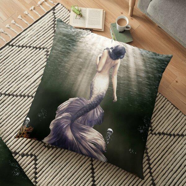MERMAID FROM THE DEEP Floor Pillow