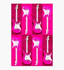 Pink Stratocaster - Electric Guitar #5 Photographic Print