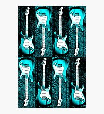 Turquoise Stratocaster - Electric Guitar #5 Photographic Print