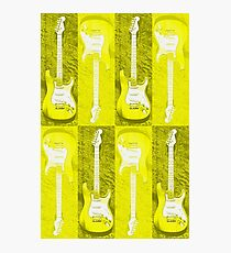 Yellow Stratocaster - Electric Guitar #5 Photographic Print