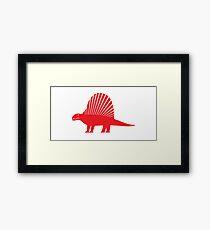 Minimalistic Dimetrodon Framed Print