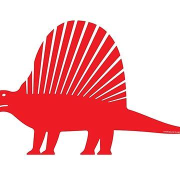 Minimalistic Dimetrodon by anatotitan