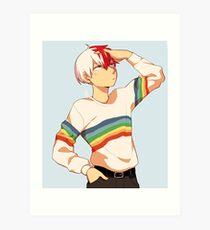 Stylish gay todoroki Art Print