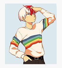 Stylish gay todoroki Photographic Print