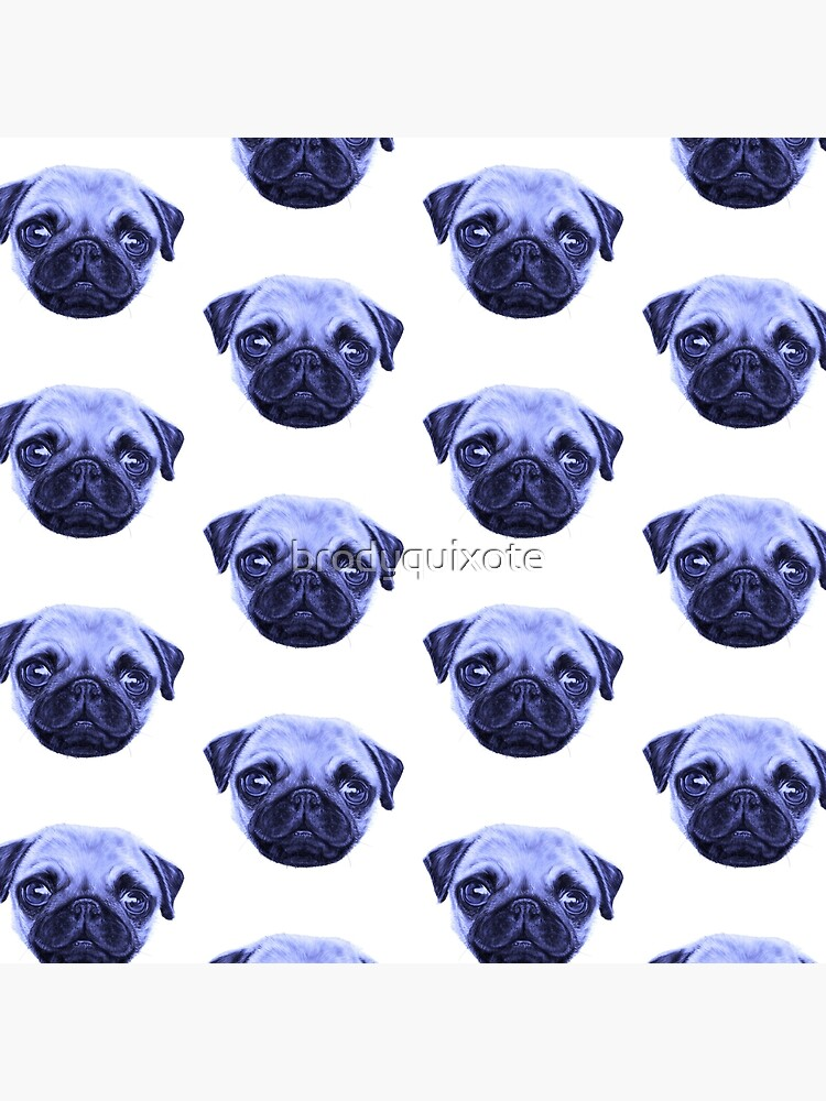 Pug Pop Art Blue Dog lunes de brodyquixote
