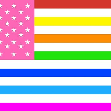 American Flag, GAY by TOMSREDBUBBLE