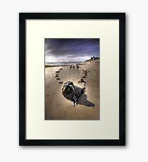 The Hammer Shipwreck Cape Cod HDR Framed Print