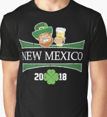 St Patricks Day Outfit For Women New Mexico Shamrock Graphic T-Shirt
