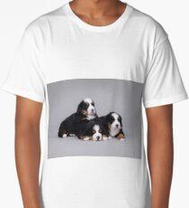Three Bernese Mountain Dog puppies Long T-Shirt