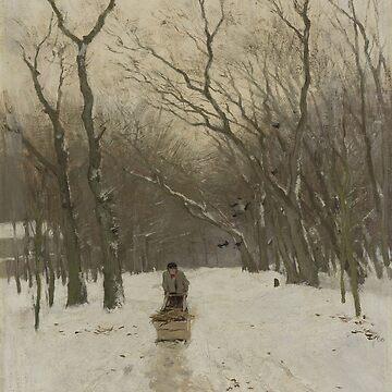 Winter in de Scheveningse bosjes-Anton Mauve by LexBauer