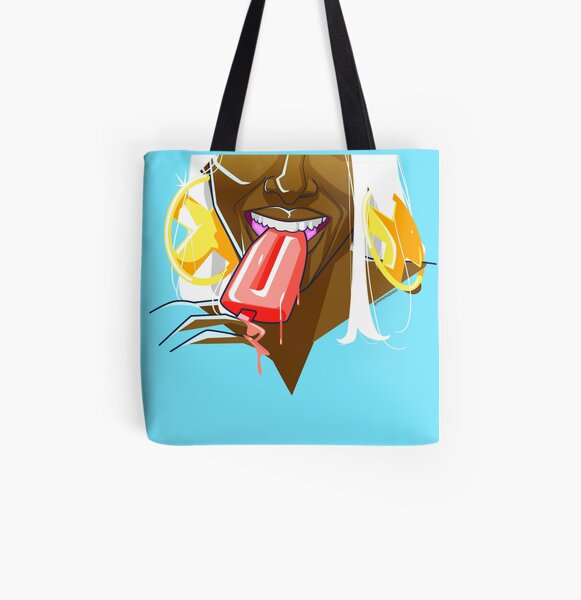 Summer Fun With Ice Cream All Over Print Tote Bag