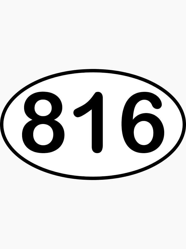 what state area code is 816