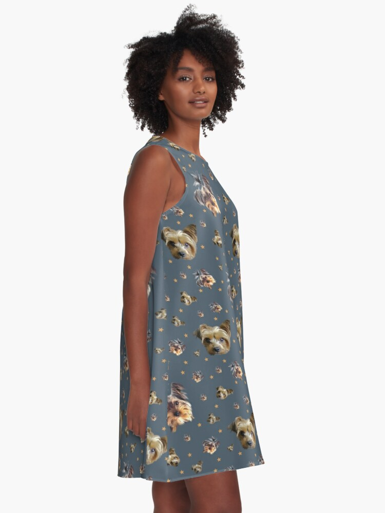 Alternate view of Yorkie stars A-Line Dress