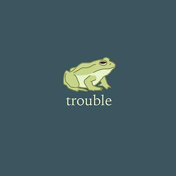 Trouble Frog by atlasbeetles