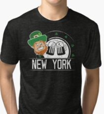 Funny St Paddys Day Shirt New York Woman St Patricks Day Tri-blend T-Shirt