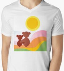 Teddybears graphic design  Men's V-Neck T-Shirt