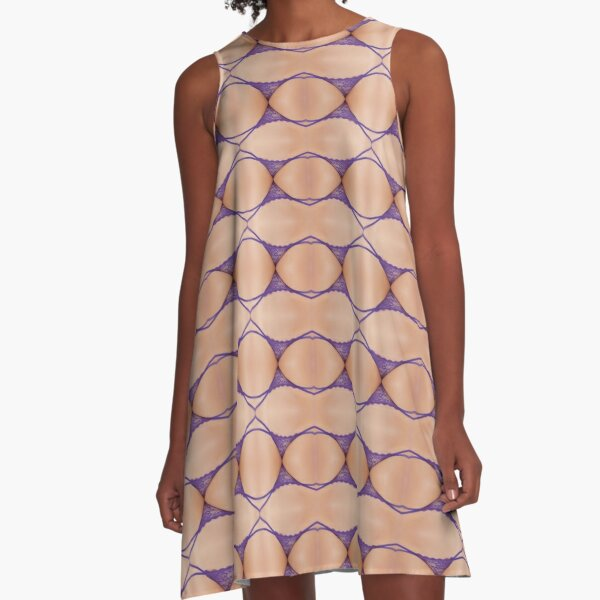 #Circle, #Pattern, #design, #tracery, #weave, #drawing, #figure, #picture, #illustration A-Line Dress
