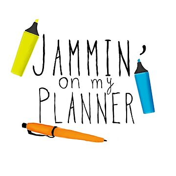 Parks and Rec Jammin on my Planner by NowTheWeather