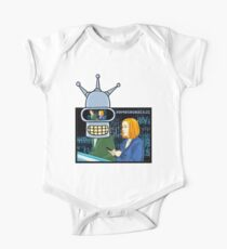 X Files Followers Robot by Mimie( more 70 designs XFiles in my shop) One Piece - Short Sleeve