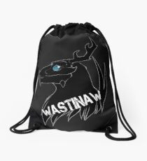 Wastinaw stencil design Drawstring Bag