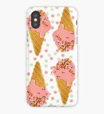 Ice Cream Sprinkle Pattern iPhone Case