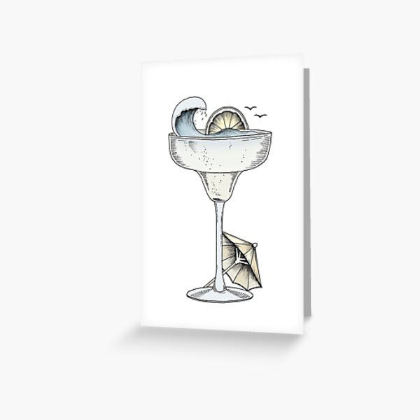 Cocktail Umbrella Greeting Cards Redbubble