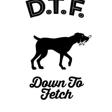 DTF Down to Fetch Funny Weimaraner Edition  by sphericalearth
