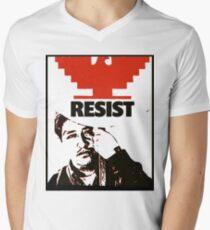 Cesar Chavez resists  Men's V-Neck T-Shirt