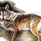 Totem Mexican Wolf (Watercolor) by belettelepink