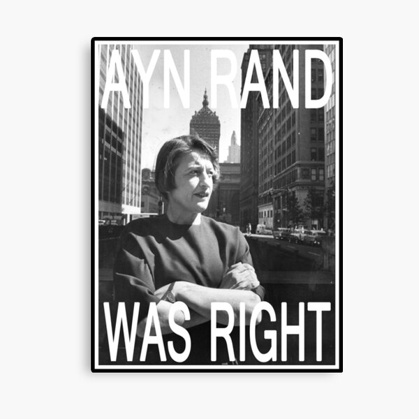 Ayn Rand Was Right Canvas Print