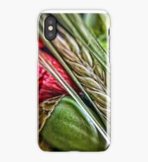 Spike Barley and Poppy Closeup iPhone Case