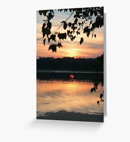 Mississippi sunset Greeting Card