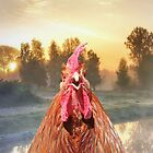 Rise and Shine - Whimsical rooster series #1 by WesternExposure