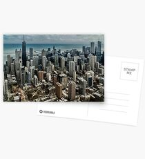 A helicopter view of downtown Chicago  Postcards