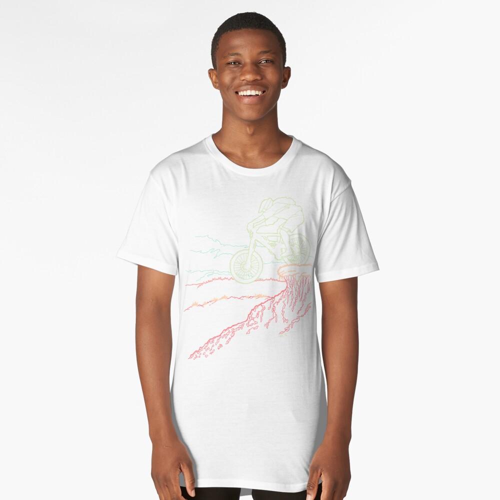 Mountain Biker Long T-Shirt Front