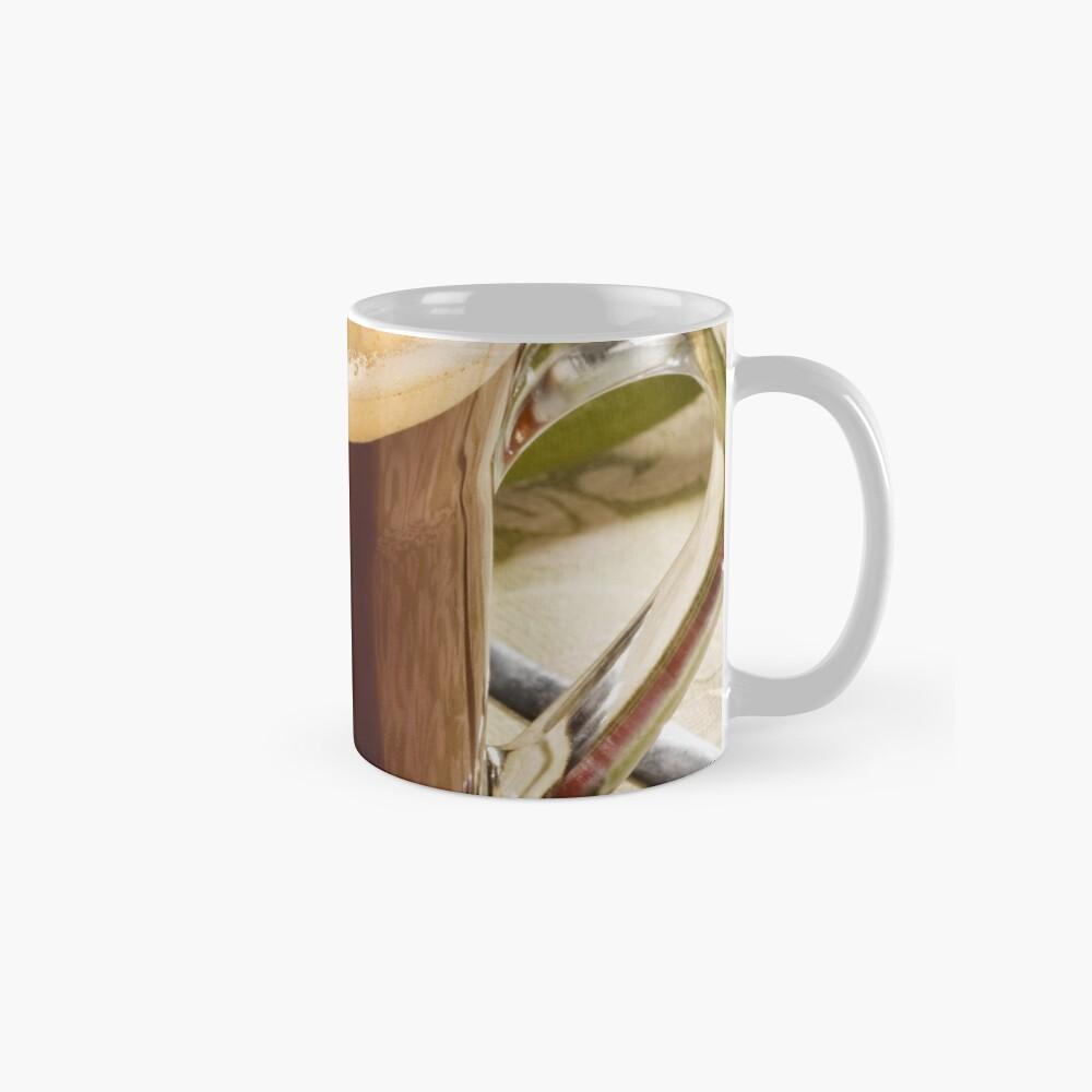 Fresh Coffee In Glass Mugs