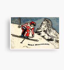 Ski Zermatt Canvas Print