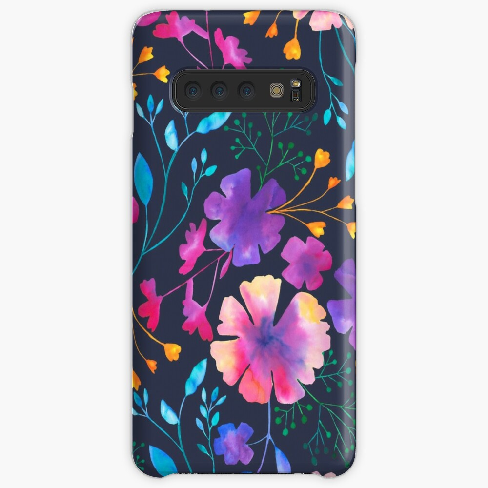 Fluro Floral Watercolour Flower Pattern Case & Skin for Samsung Galaxy