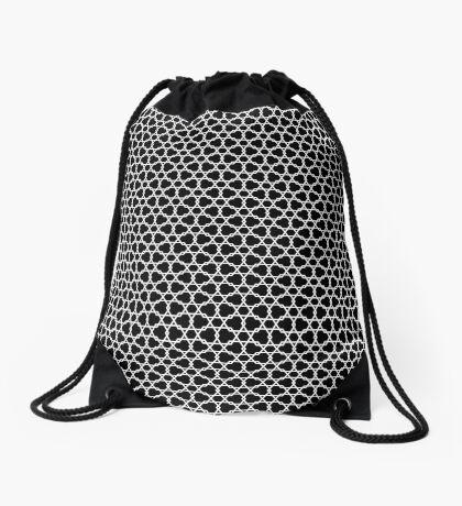 Hexagons Pattern by Wyn Drawstring Bag