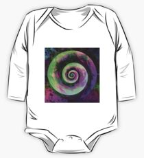 Abstract galaxy spiral Long Sleeve Baby One-Piece