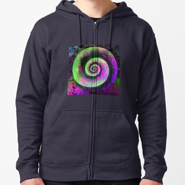 Abstract galaxy spiral Zipped Hoodie