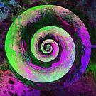 Abstract galaxy spiral by blackhalt