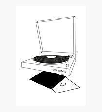 Record player. Fotodruck