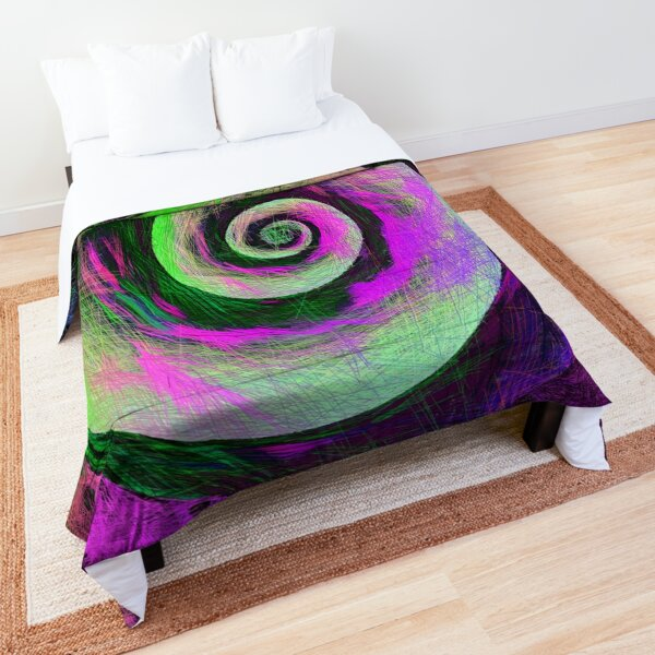 Abstract galaxy spiral Comforter