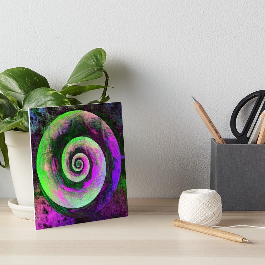 Abstract galaxy spiral Art Board Print