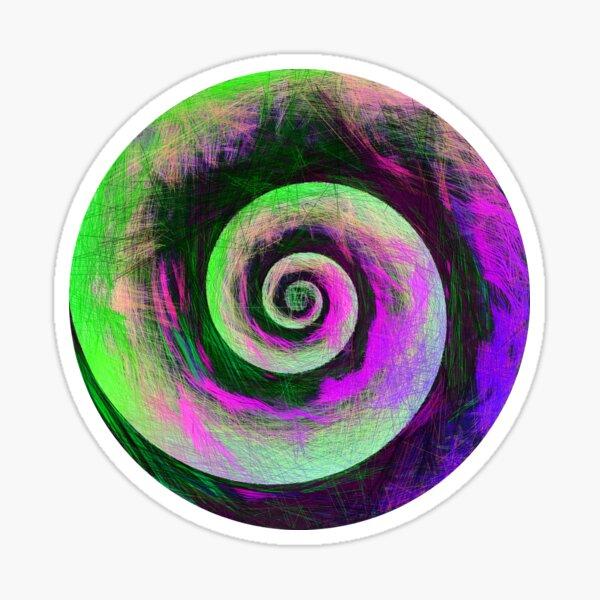 Abstract galaxy spiral Sticker