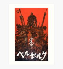 Berserk Gattsu Artwork Art Print