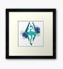 Rose Dragonborn Framed Print